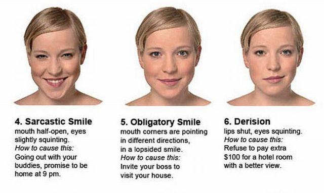 Women facial expressions (4 pics)