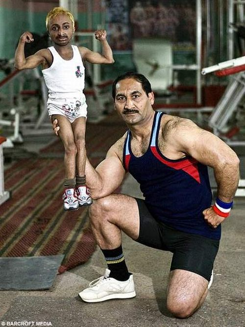 The World smallest bodybuilder (12 pics)