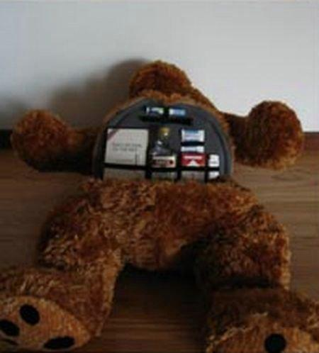 This plush-bear seems to be absolutely normal… (3 pics)