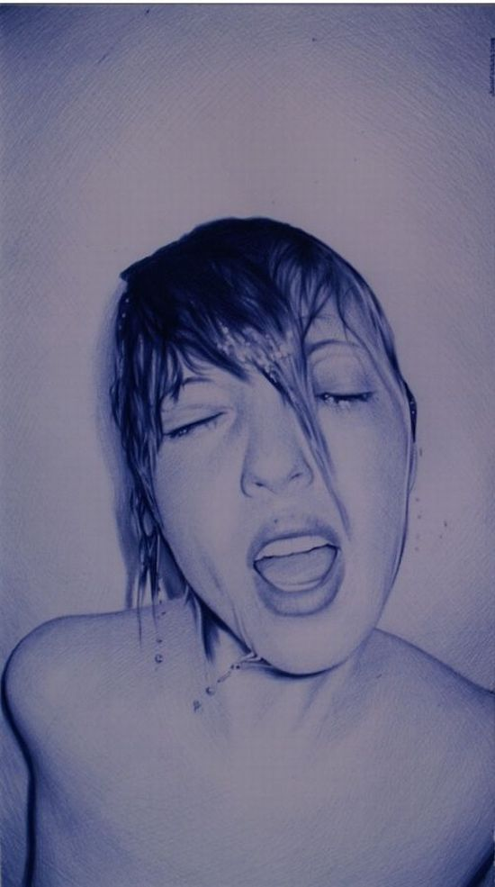 Ballpoint pen drawings (60 pics)