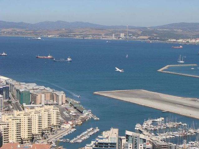 Gibraltar airport runway crosses the road to Spain (12 pics)