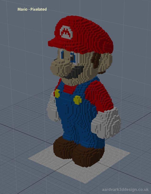 Real big LEGO Mario (8 pics)