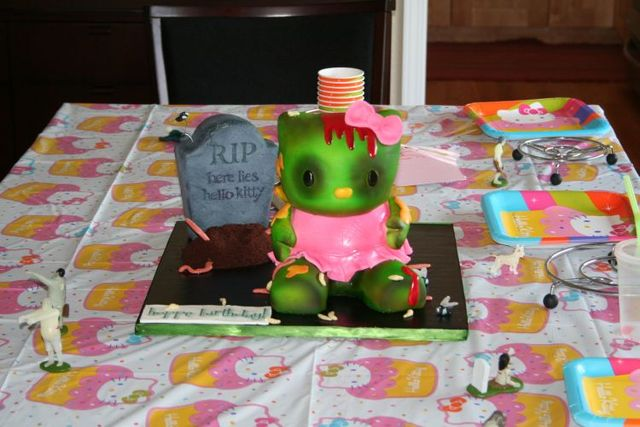 Hello Kitty 3d Cake. Hello Kitty Zombie Cake (14