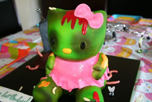 Hello Kitty Zombie Cake (14 pics)