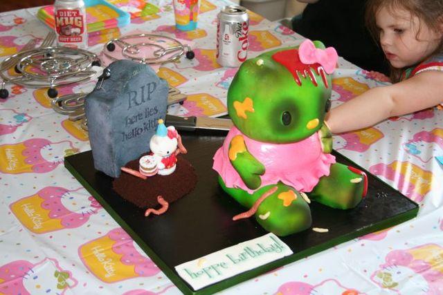 Hello Kitty Zombie Cake (14 pics)