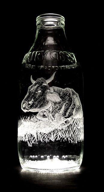 Wow! Milk Bottle Art (33 pics)