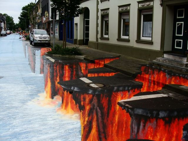 Lava eruption. A great 3D project (16 pics)