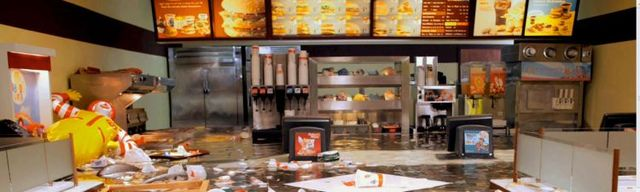 Flooded McDonald (10 pics + 1 video)