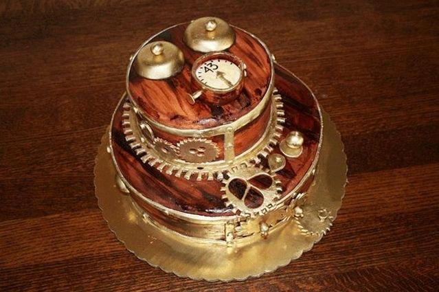 Steampunk cake (5 pics)
