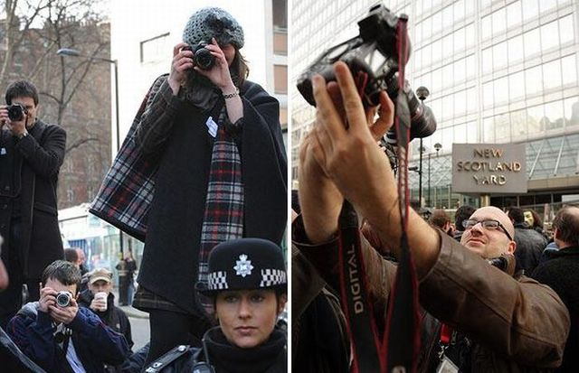 Photographers protest in front of Scotland Yard (9 pics)
