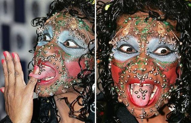 Most Pierced Woman in ...