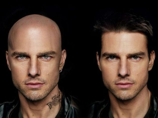 Bald celebs. Great photomontage (54 pics)