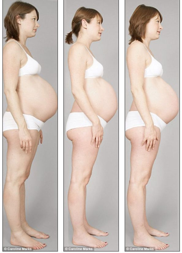 How belly's growing during pregnancy (8 pics)