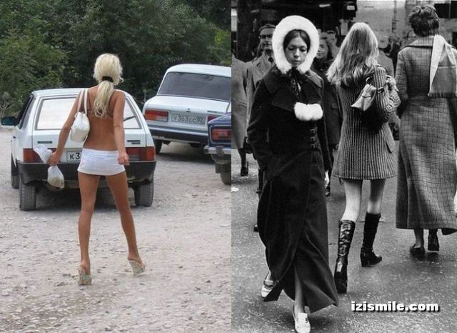 Mini-skirts from the 70's vs modern era (22 pics)