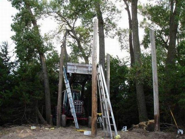 How to make a tree house  (10 photos)