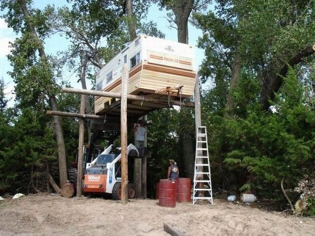 How to make a tree house  (10 photos)