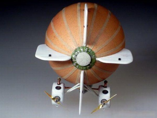 How to make an airship from a simple egg (28 photos)