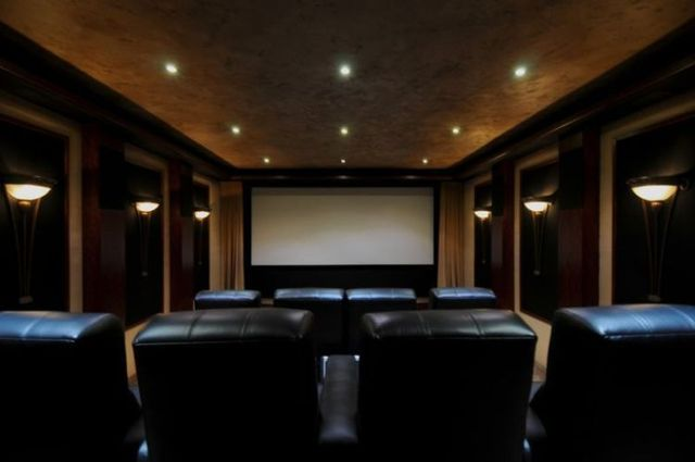 Different styles of home cinema (30 pics)