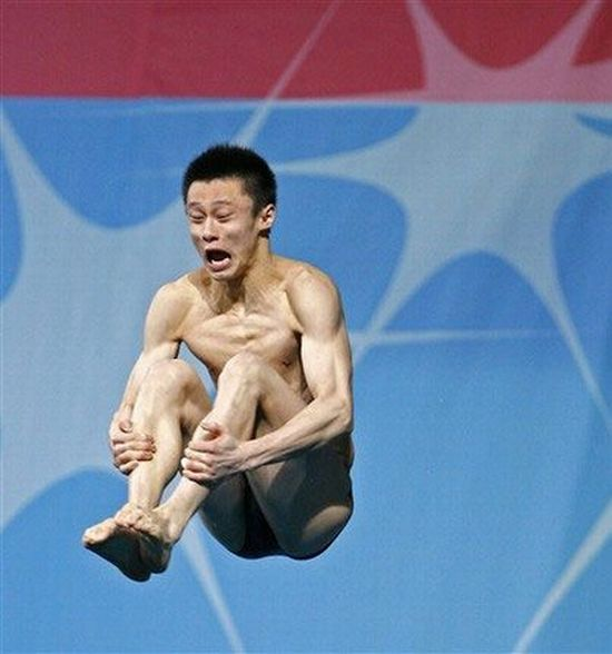 People's faces when they jump into the water (14 pics)