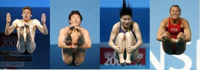 Water jumpers. Funny photomontage (42 pics)