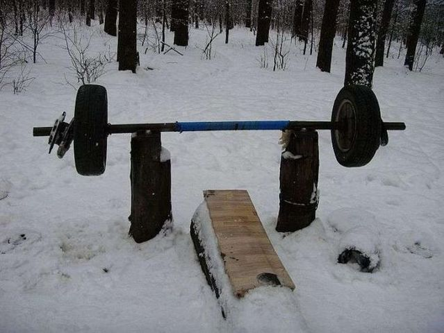 Outdoor gym (19 pics)