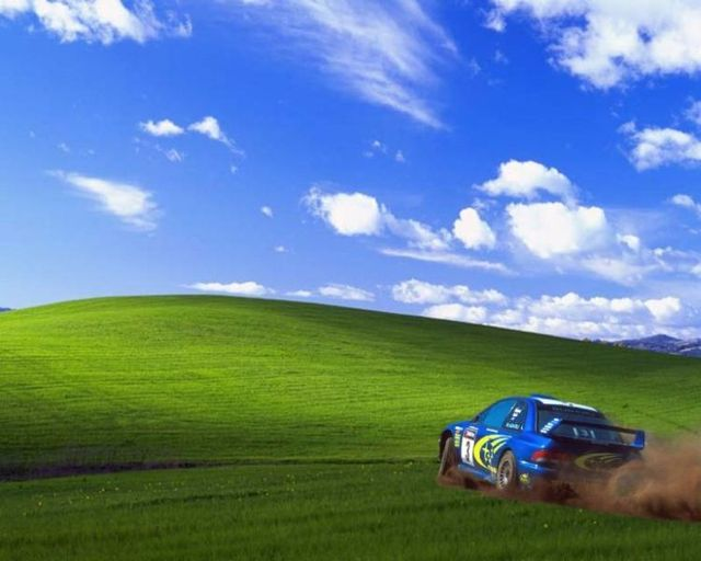 Windows XP wallpaper (5 pics + this place by Google Earth)