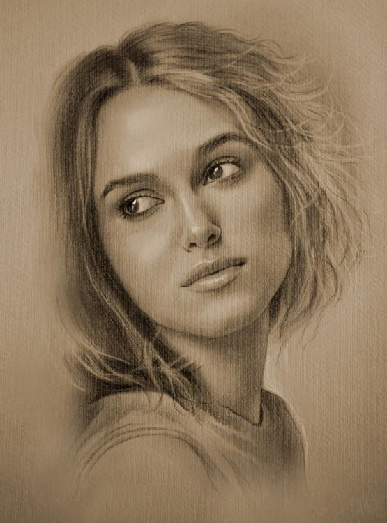 These portraits are drawn with a pencil (13 pics)