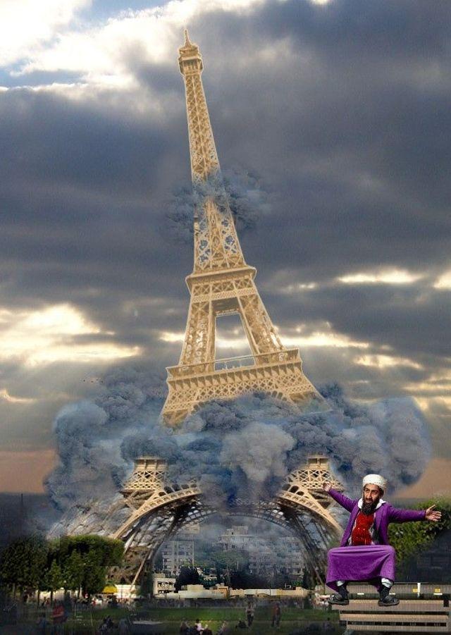 Прикольная картинка на францию, праздничной