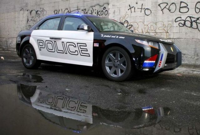 Future police cars - Carbon Motors E7 (36 pics)