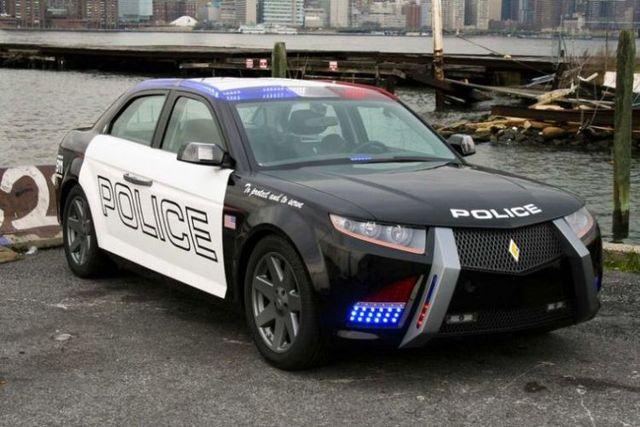 Future police cars - Carbon Motors E7 (36 pics)