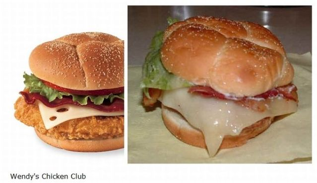 Fast-food products on ads and in real life (14 pics)