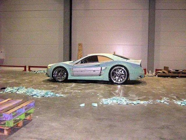 Car made with polyurethane foam (34 pics)