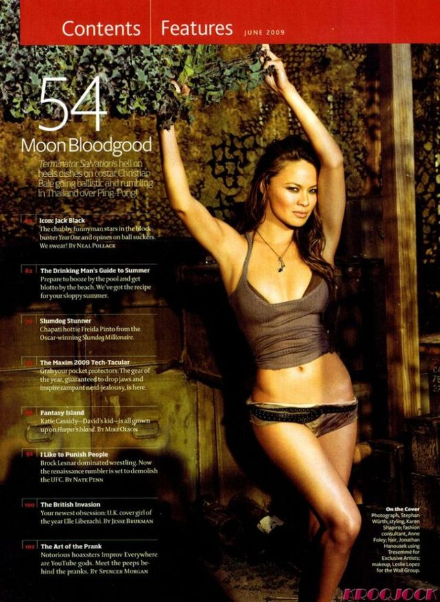 Moon Bloodgood from the new Terminator movie (6 pics)