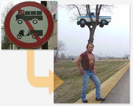 Haha )) What do warning signs really warn about? (14 pics)
