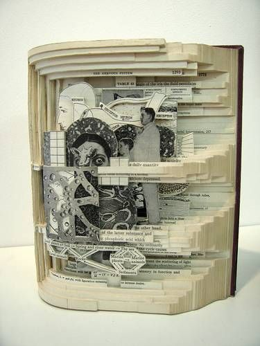 """Book autopsies"" - 3 dimensional book art by Brian Dettmer (10 pics)"