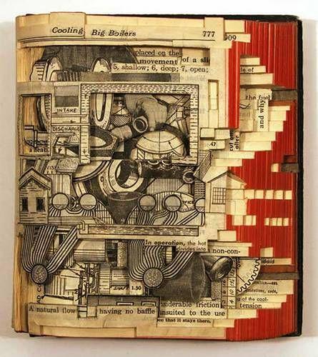 """""""Book autopsies"""" - 3 dimensional book art by Brian Dettmer (10 pics)"""