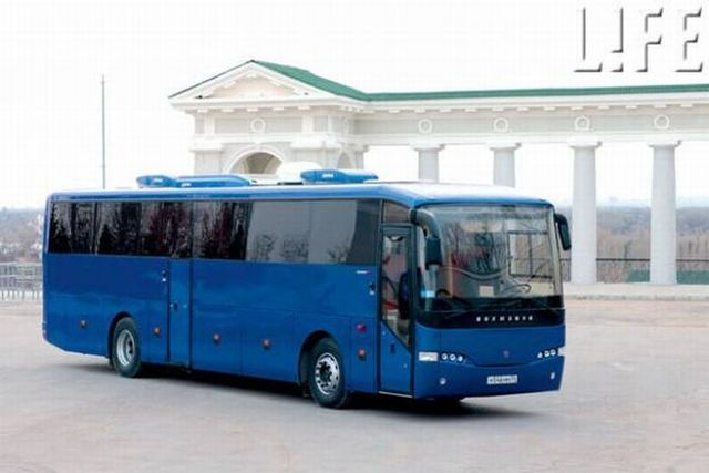A bus limousine for the administration of a Russian city (6 pics)