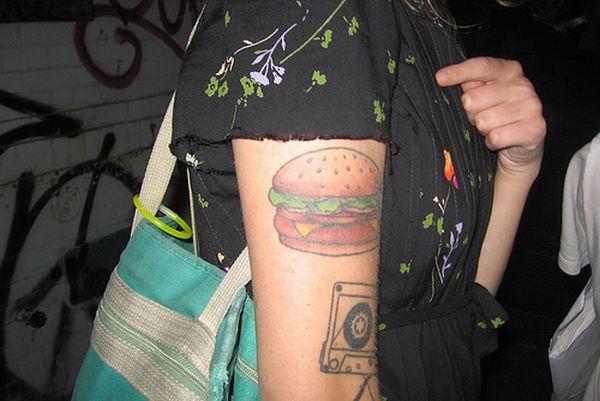Hamburger tattoos