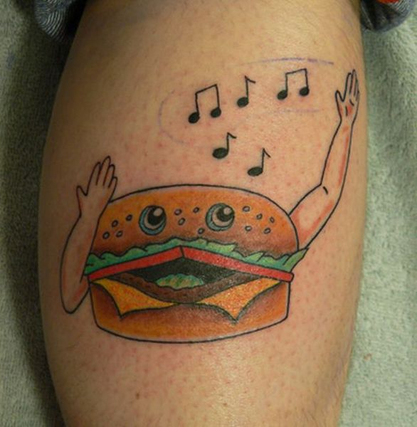 Hamburger tattoos