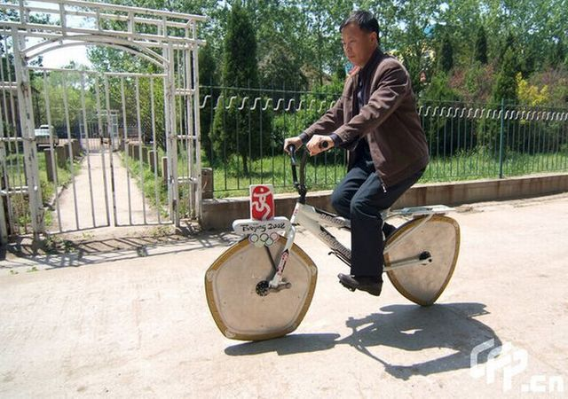 A bicycle was invented in China ... (4 pics)