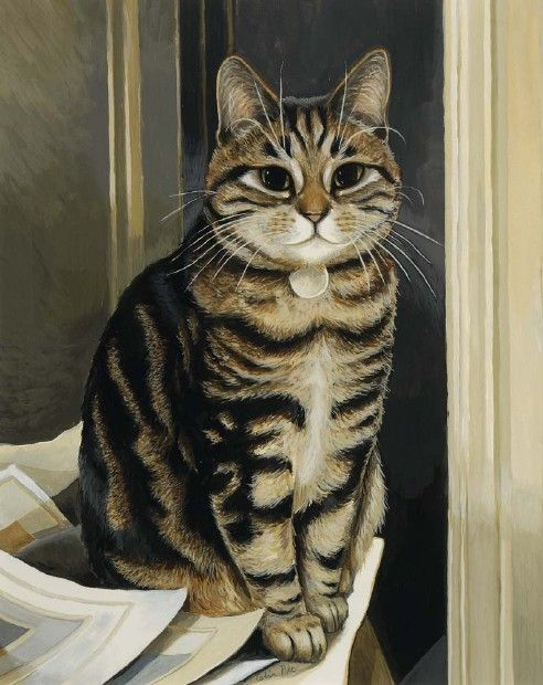 great cat paintings by celia pike 20 pics