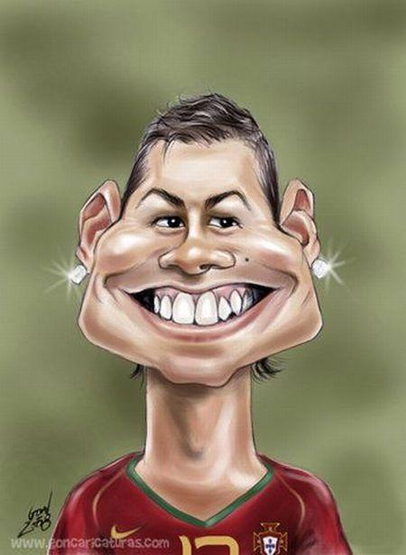 Caricatures of Cristiano Ronaldo (46 pics)
