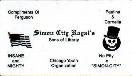 Business cards of Chicago gangs in 70-80's (32 pics)