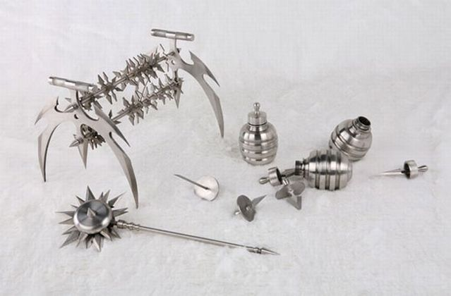 Stainless and sharp toys for Terminator babies ;) (10 pics)