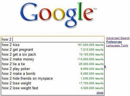 Interesting Google search queries (10 pics)