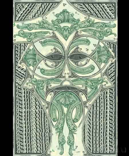 Creative collages of one-dollar bills from Mark Wagner (31 pics)