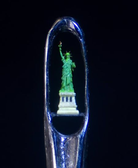 Sculptures in the eye of a needle (28 pics)