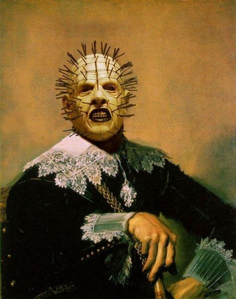 Famous monsters from movies on classic paintings (35 pics)