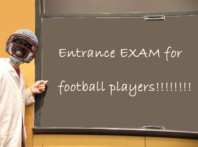 Football Entrance Exam (1 pic + text)