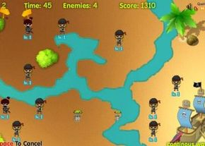 Ninjas vs. Pirates Tower Defense 2